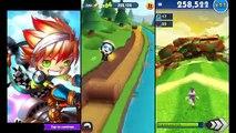 Talking Tom Gold Run vs Sonic Dash vs Sky Punks Endless Runner game for kids