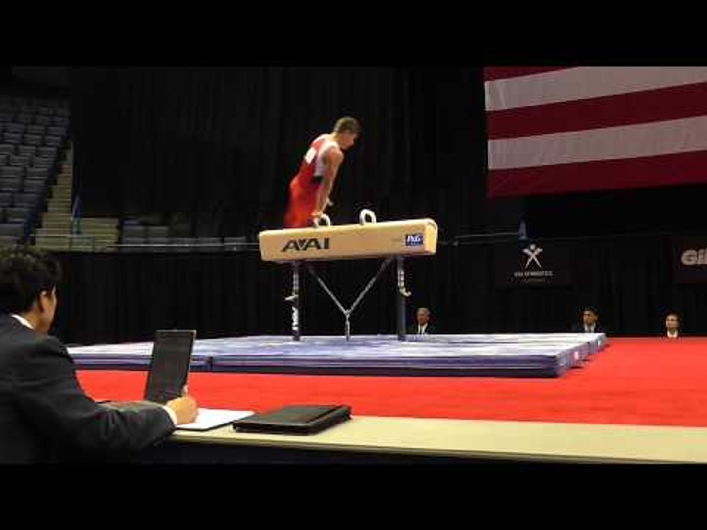 Hunter Justus - Pommel Horse - 2013 P&G Championships - Jr. Men - Day 2