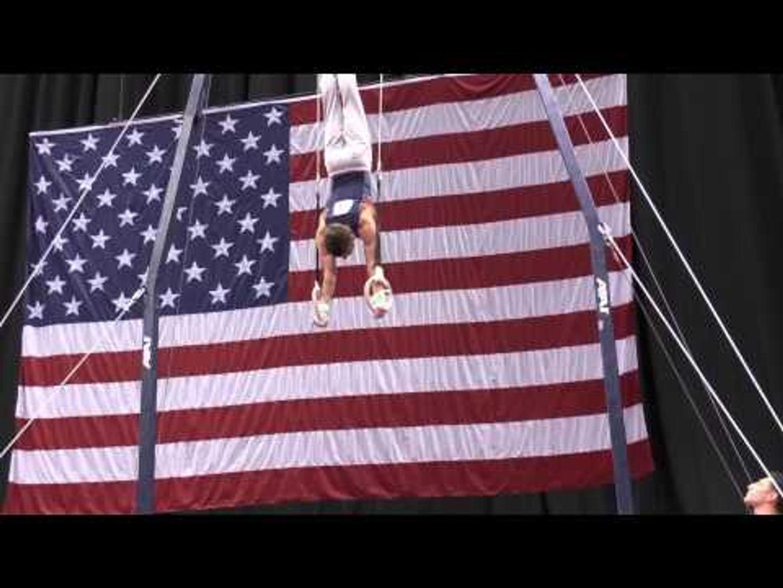 Bobby Baker - Still Rings - 2014 P&G Championships - Jr. Men Day 1