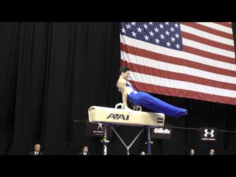 Tanner Justus - Pommel Horse - 2015 P&G Championships - Jr. Men Day 1