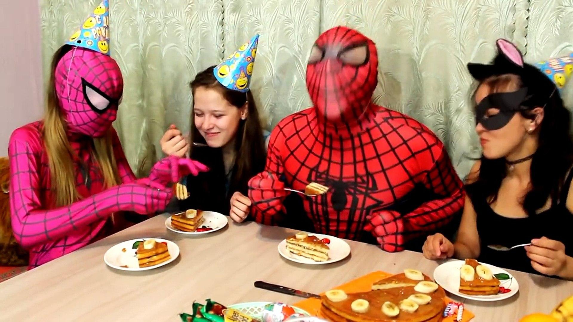 День рождения Паука // Супергерои празднуют день рождения // Happy birthday Spiderman