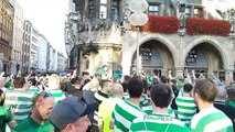 Boy leads Celtic chants in Munich ahead of Champions League game