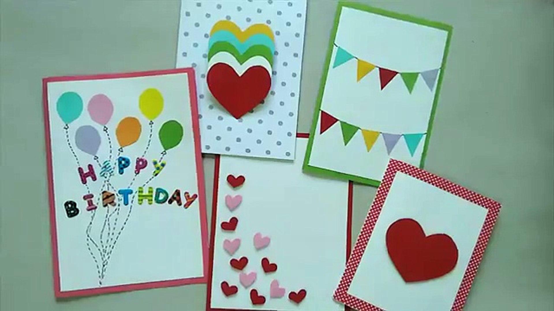 30 Cute & Easy Greeting cards   Srushti Patil