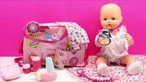 Bolso Cambiador y Accesorios para la muñeca Bebé Baby Born | La Bebé Nenuco hace popó