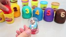 Play Doh Surprise Eggs Number Playdough Toy 플레이도우 서프라이즈 에그 와 뽀로로 폴리 타요 장난감