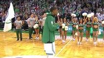 Gordon Hayward acclamé par les fans des Celtics depuis l'hosto