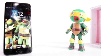 Breaking a NEW iPhone _ Superheroes in Real Life Clay Animation Play Doh TMNT Stop Motion