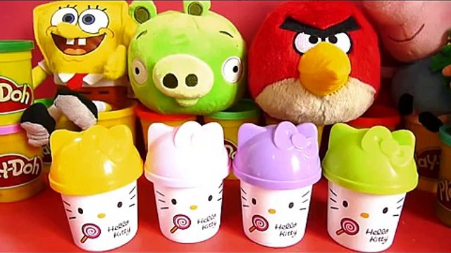 30 Surprise eggs Kinder Angry Birds Hello Kitty Маша и Медведь Masha i Medved Mickey FROZEN PLAY DOH
