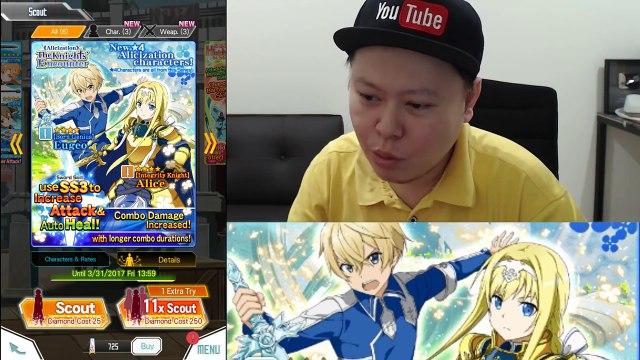 Sword Art Online Alicization Arc - 1st Impression & 750 Diamonds Rainbow Scout ! (SAO Memory Defrag)