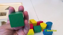 Learn Shapes for Kids Shape Sorter Cube Toy Wooden Blocks Learn Shapes Colors Counting ABC Surprises
