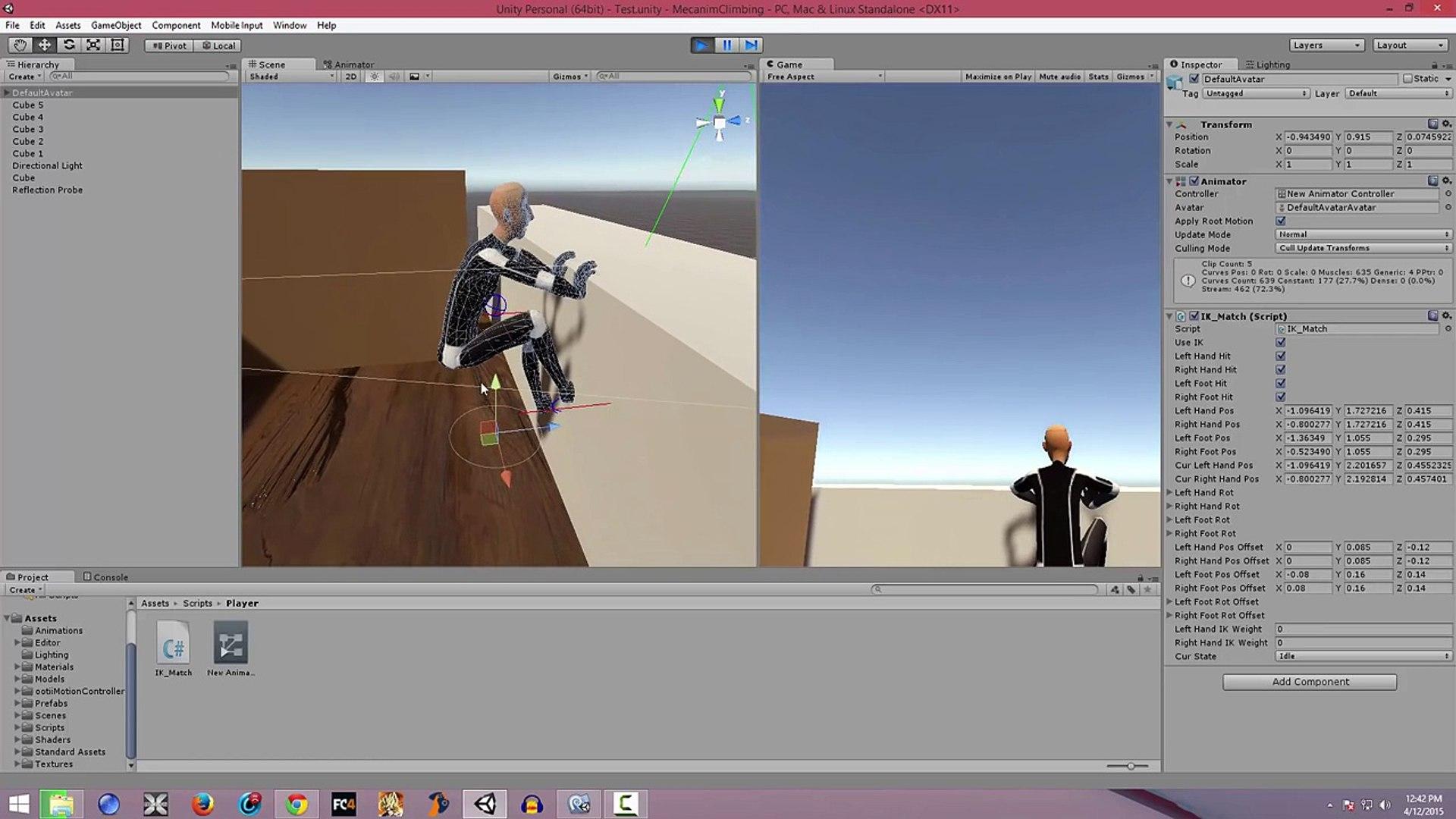 Climbing IK Setup Tutorial Part 1 (Getting Started) - Unity3d