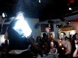 Striper Noivo no palco