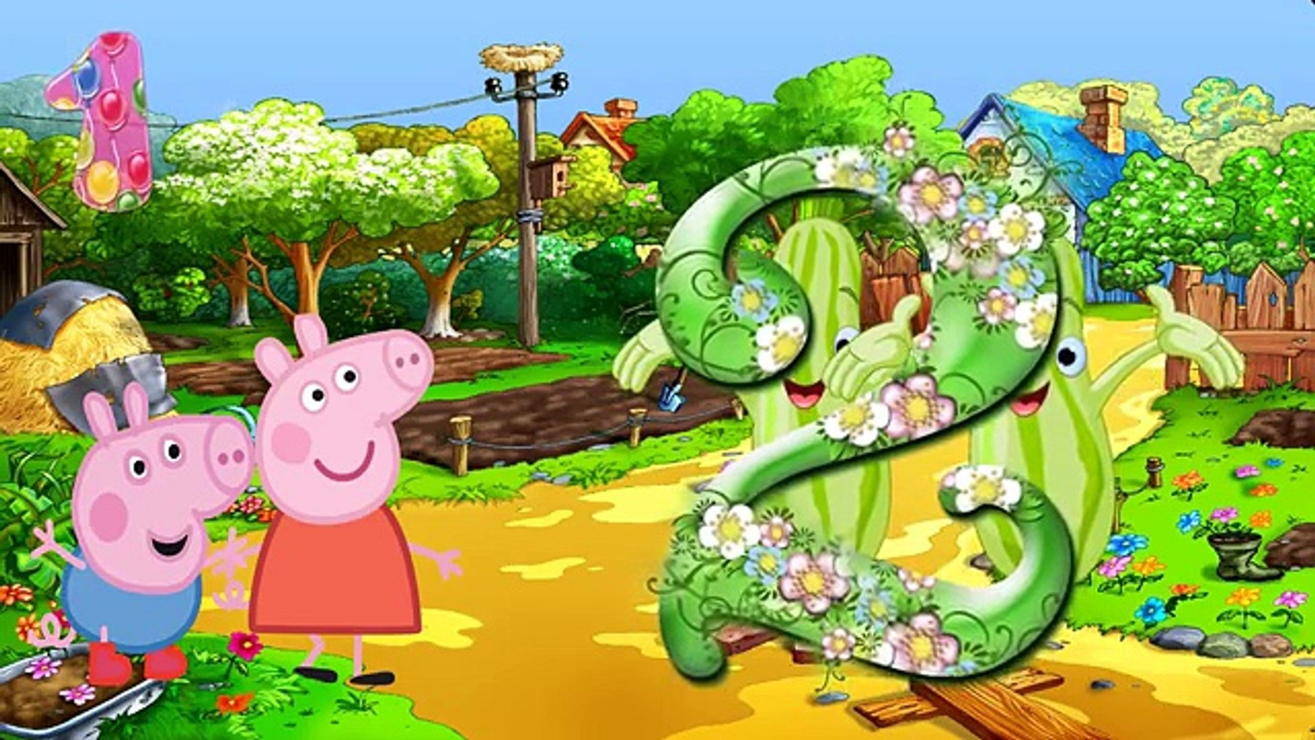 Свинка Пеппа и Джордж изучают цифры и овощи. Развивающий мультфильм для детей. Волшебная монетка
