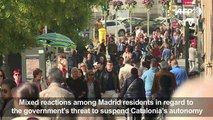 Madrid residents divided over Catalan crisis