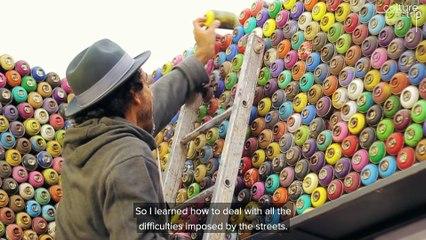 O artista que é recordista mundial e grafita ao redor do mundo