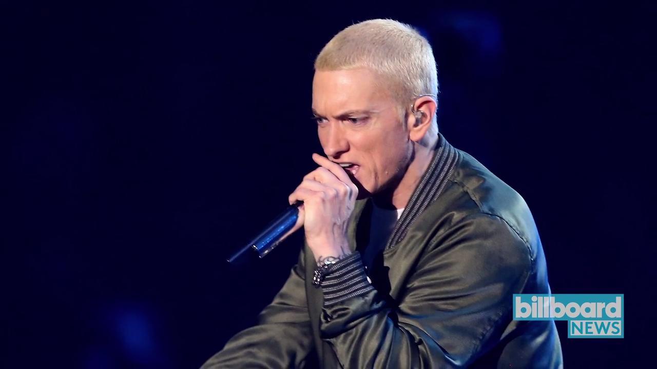 Eminem Hypes Crowd at Detroit Pistons' NBA Season Opener   Billboard News