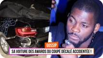DJ Arafat - sa voiture des Awards du Coupé Décalé accidentée
