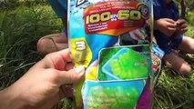 BATAILLE DE BOMBES À EAU ! - 300 bombes à eau en 60 secondes avec Bomb A-O Bunch O Balloons!