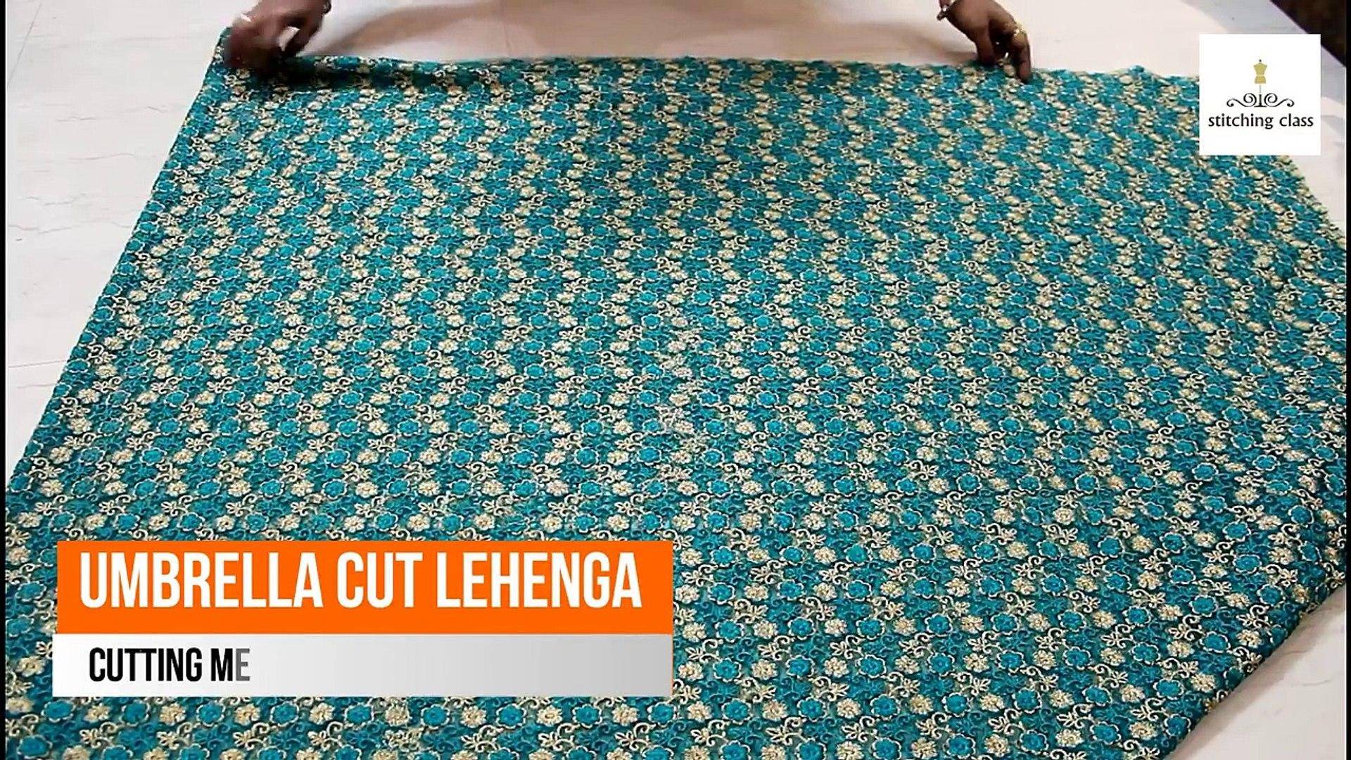 Umbrella Cut Lehenga Cutting and Stitching