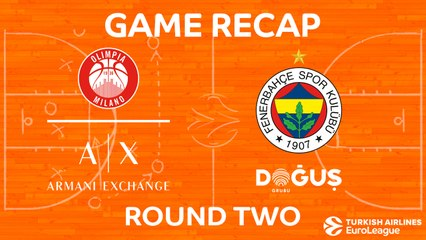 EuroLeague 2017-18 Highlights Regular Season Round 2 video: AX Milan 86-92 Fenerbahce