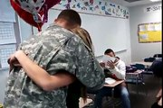 Dad Returns from Iraq to Surprise Daughter in Class!