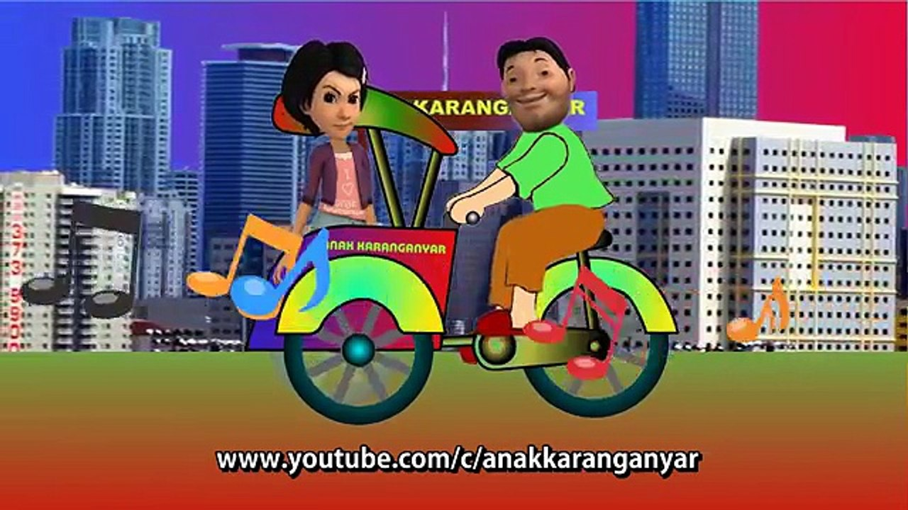 Adit Sopo Jarwo ✰ Lagu HAI BECAK ✰ Lagu Anak Indonesia Populer Sepanjang Masa