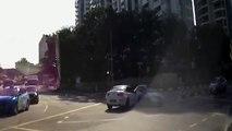 Collision avec une voiture fantôme sortie de nulle part dans un carrfour