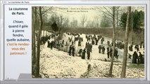 133 - PERONNE, BALADE DANS LE TEMPS,  -- Les pieds dans la neige, de la couronne de Paris au Quinconce.