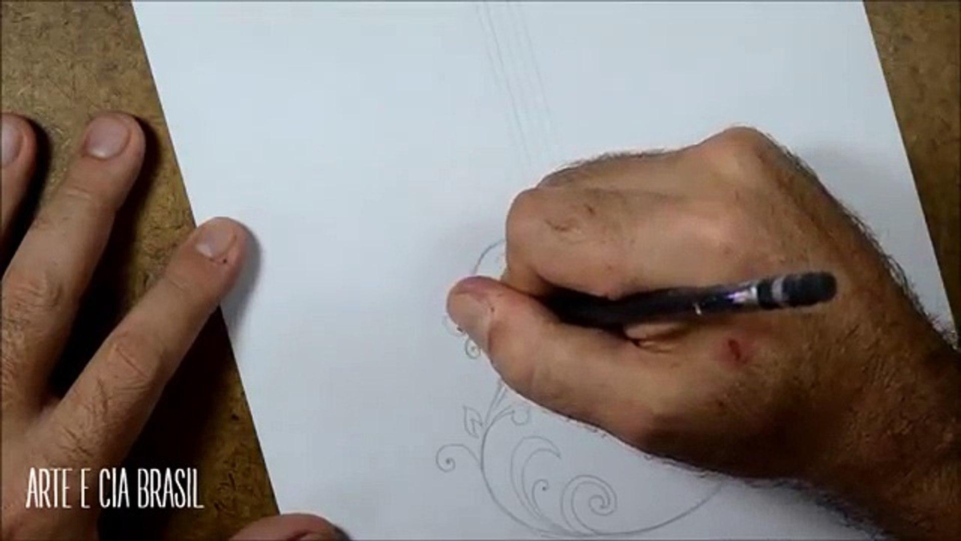 Como Desenhar Violao Estilo Tribal Passo A Passo Video Dailymotion