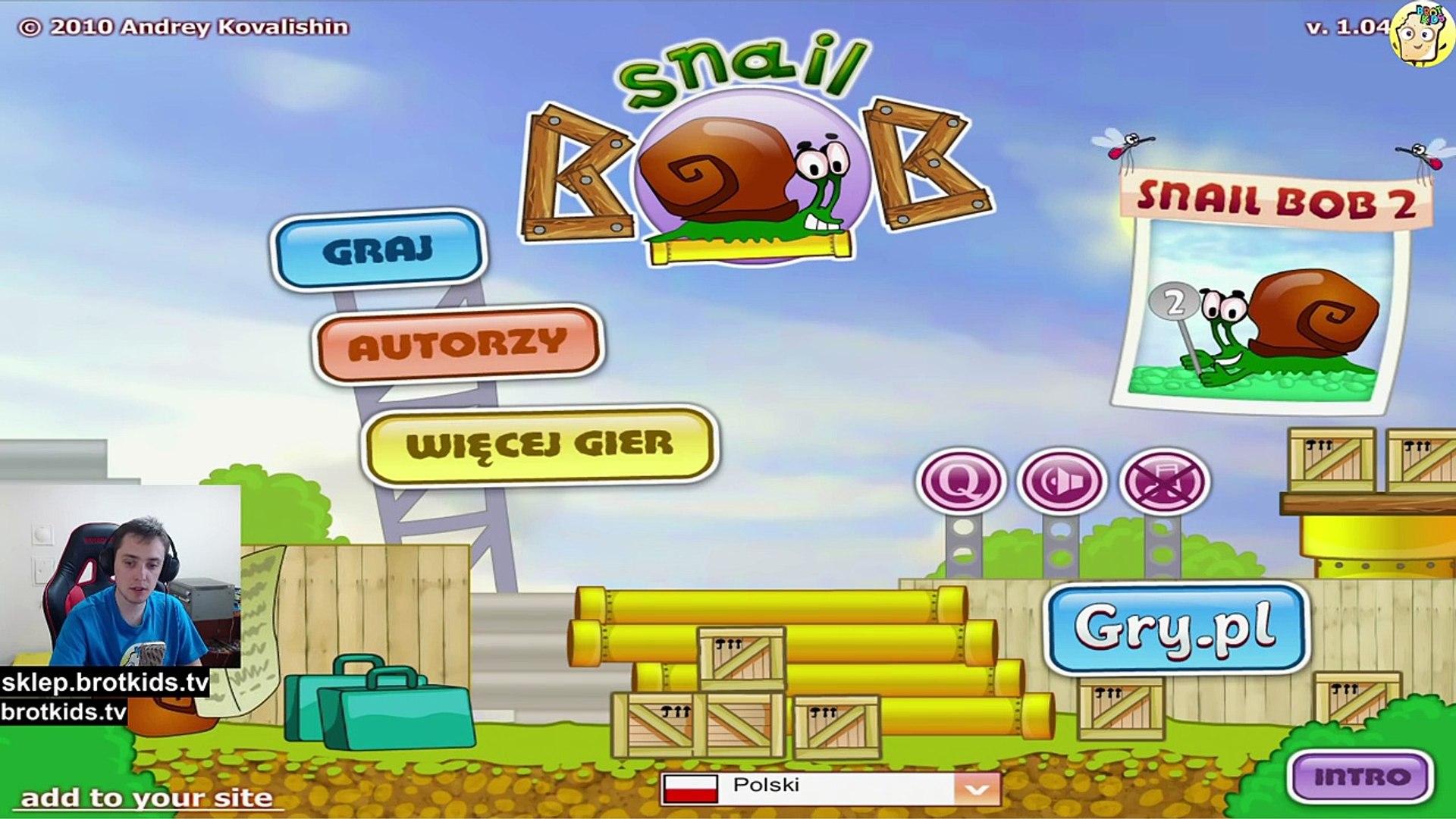 Darmowe Gry Online Dla Dzieci | Ślimak Bob 1 - Snail Bob