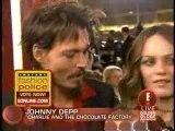 Johnny Depp e Vanessa Paradis ai Golden Globe