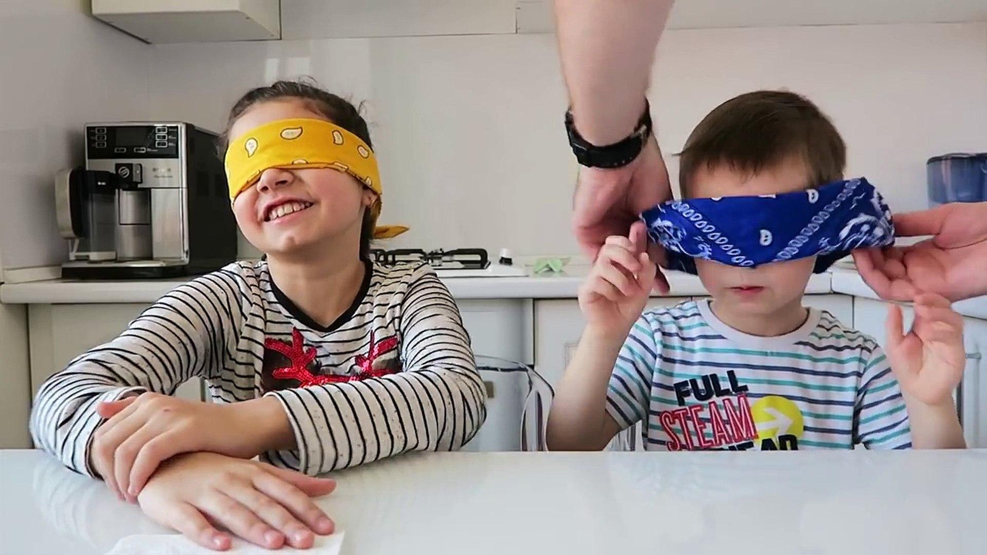 Детский вызов отгадай вкус еды / EAT ME CHALLENGE Маргарита и Клим