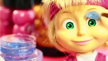 Fun TOYS video for kids. Makeover Masha and the Bear and funny pig and Barbie doll