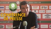 Conférence de presse RC Lens - Stade de Reims (0-1) : Eric SIKORA (RCL) - David GUION (REIMS) - 2017/2018