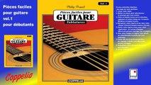 Partitions - Pièces faciles pour guitare tablatures vol.1 pour débutants