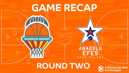 EuroLeague 2017-18 Highlights Regular Season Round 2 video: Valencia 78-71 Anadolu Efes