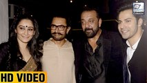 Sanjay Dutt And Wife Maanayata At Aamir Khan's Grand Diwali Bash
