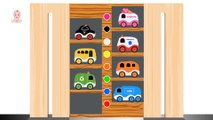 Learn Colors and Vehicle Names for Children Toddlers - MULTI LEVEL PARKING TOY - Street Vehicles