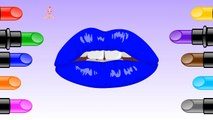Learn Colors with Lipstick - Crazy Lipstick Colors for Children - Colours to Kids Children Toddlers
