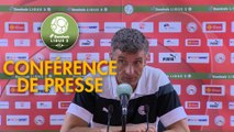 Conférence de presse Nîmes Olympique - Stade Brestois 29 (4-0) : Bernard BLAQUART (NIMES) - Jean-Marc FURLAN (BREST) - 2017/2018