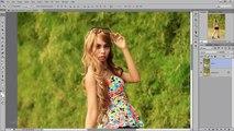 Photoshop Retouching Adding Blur Background - Photoshop CC Tutorial