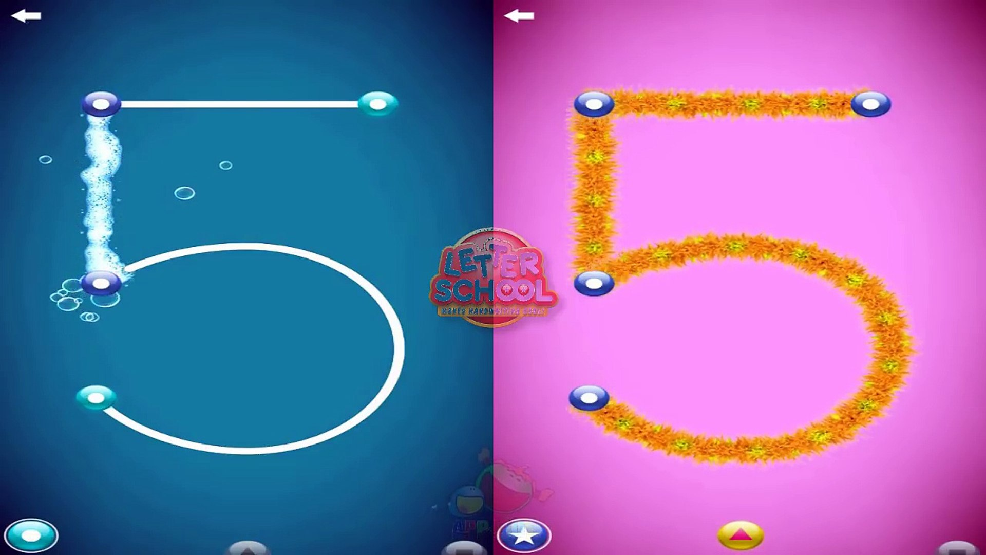 Letters School Number : preview app : education app for kids