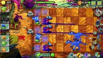 Plants vs. Zombies 2 new Plant Power Up Challenge vs Zombies from Jurassic Marsh.