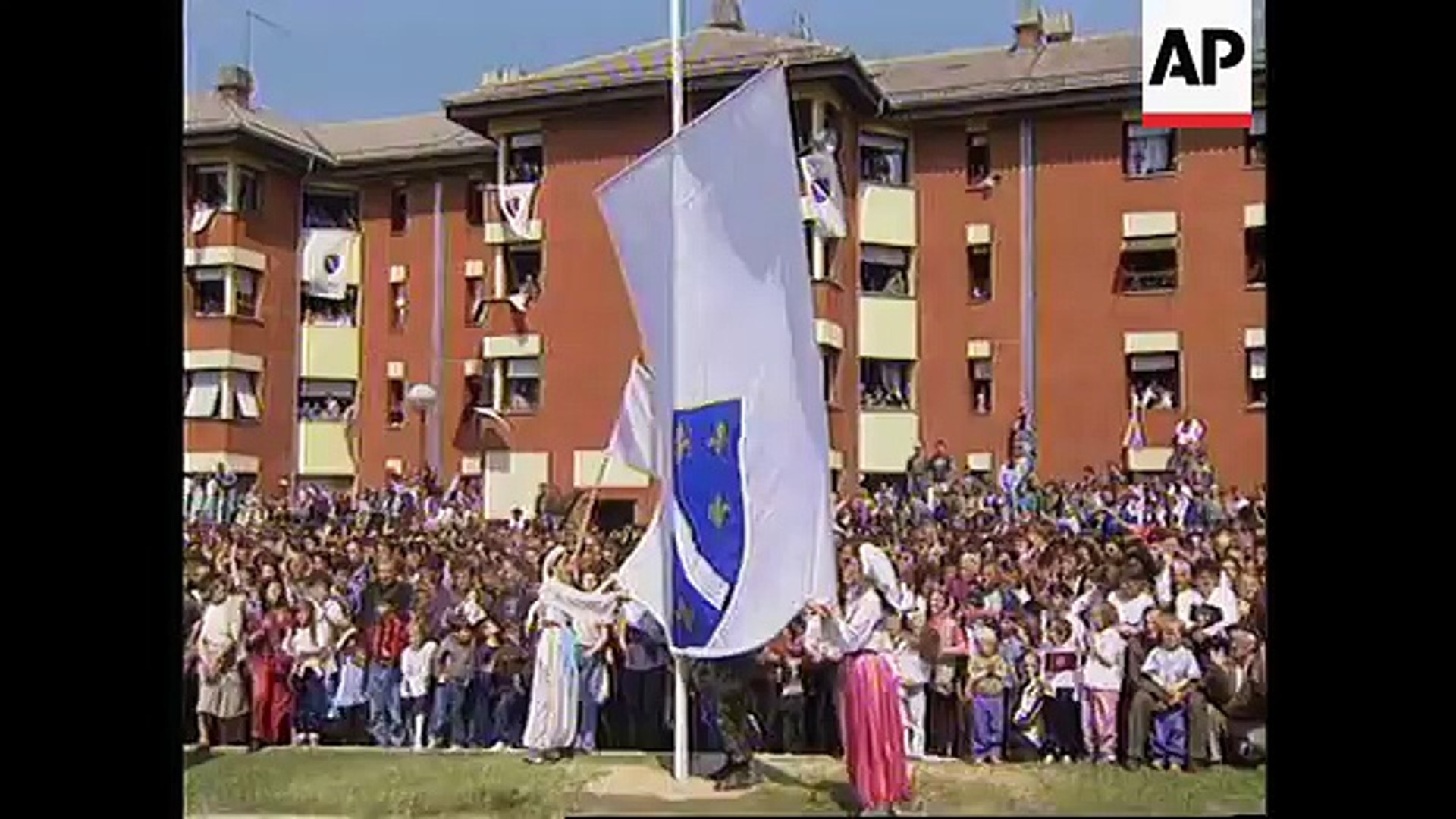 BOSNIA-  4TH ANNIVERSARY OF BOSNIAN ARMY MILITARY PARADE