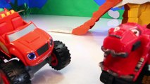DINOTRUX Toys Ty RUX (Dinosaurs & Trucks) Gets Help from BLAZE AND THE MONSTER MACHINES Toypals.tv