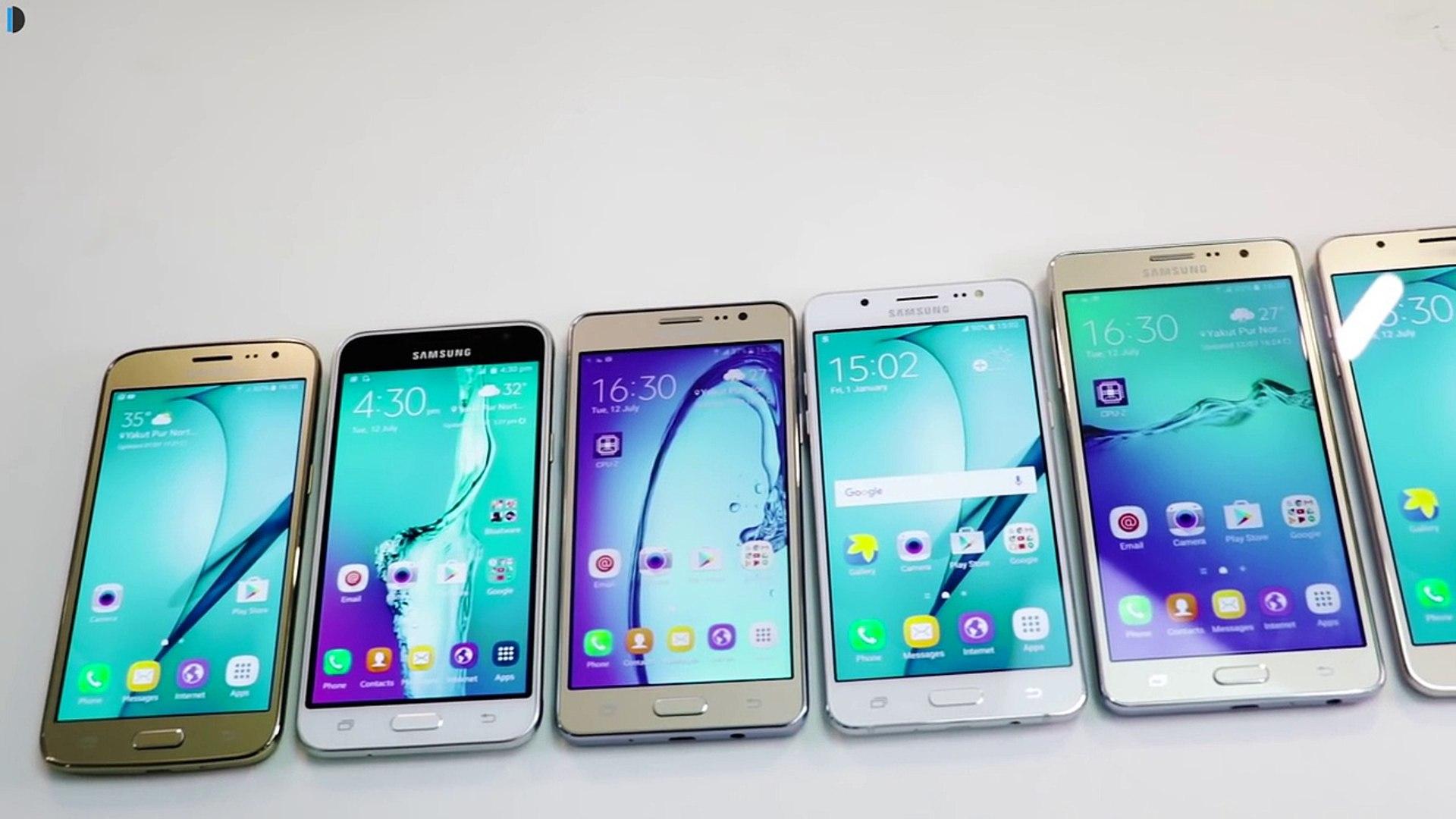 Samsung Galaxy J2 2016 VS J3 2016 VS J5 2016 VS J7 2016 VS On5 Pro VS On7 Pro Comparison