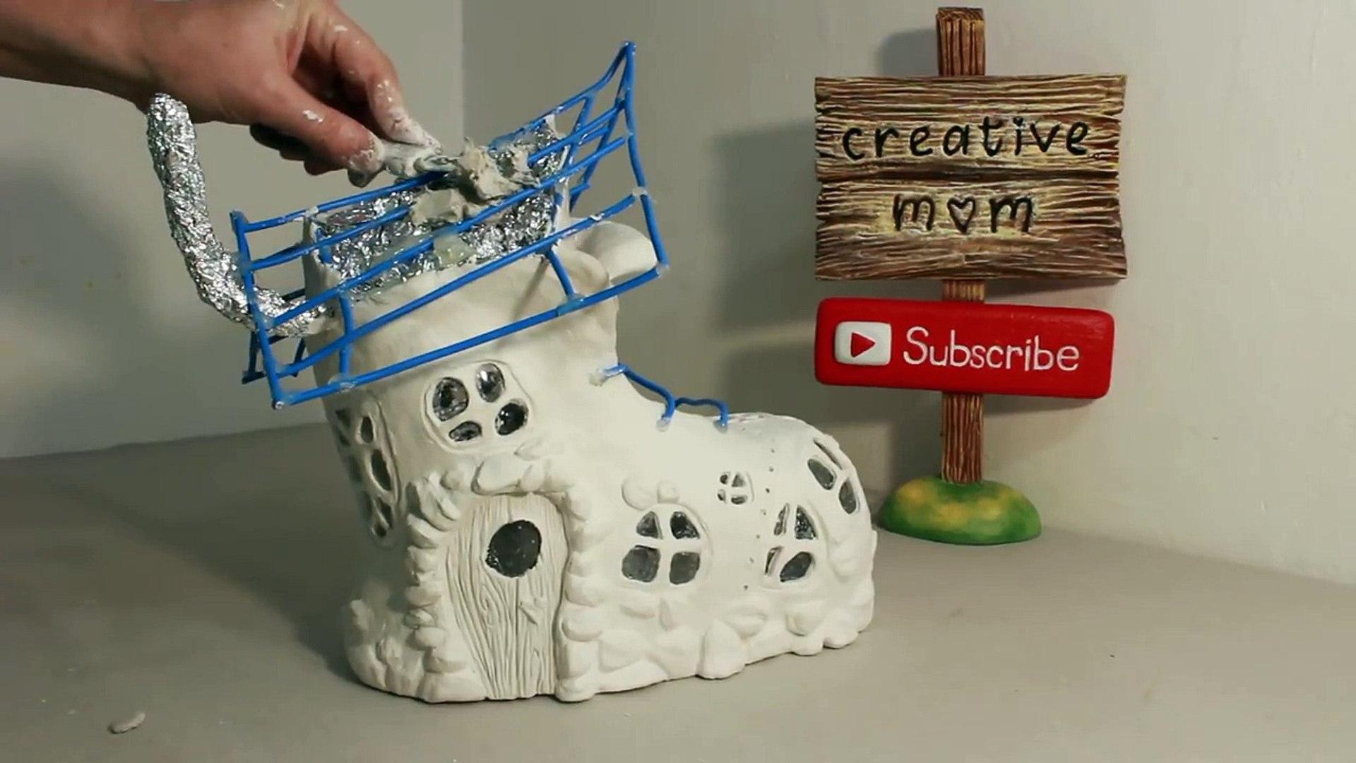 ❣DIY Boot Fairy House Lamp Using Coke Plastic Bottle❣