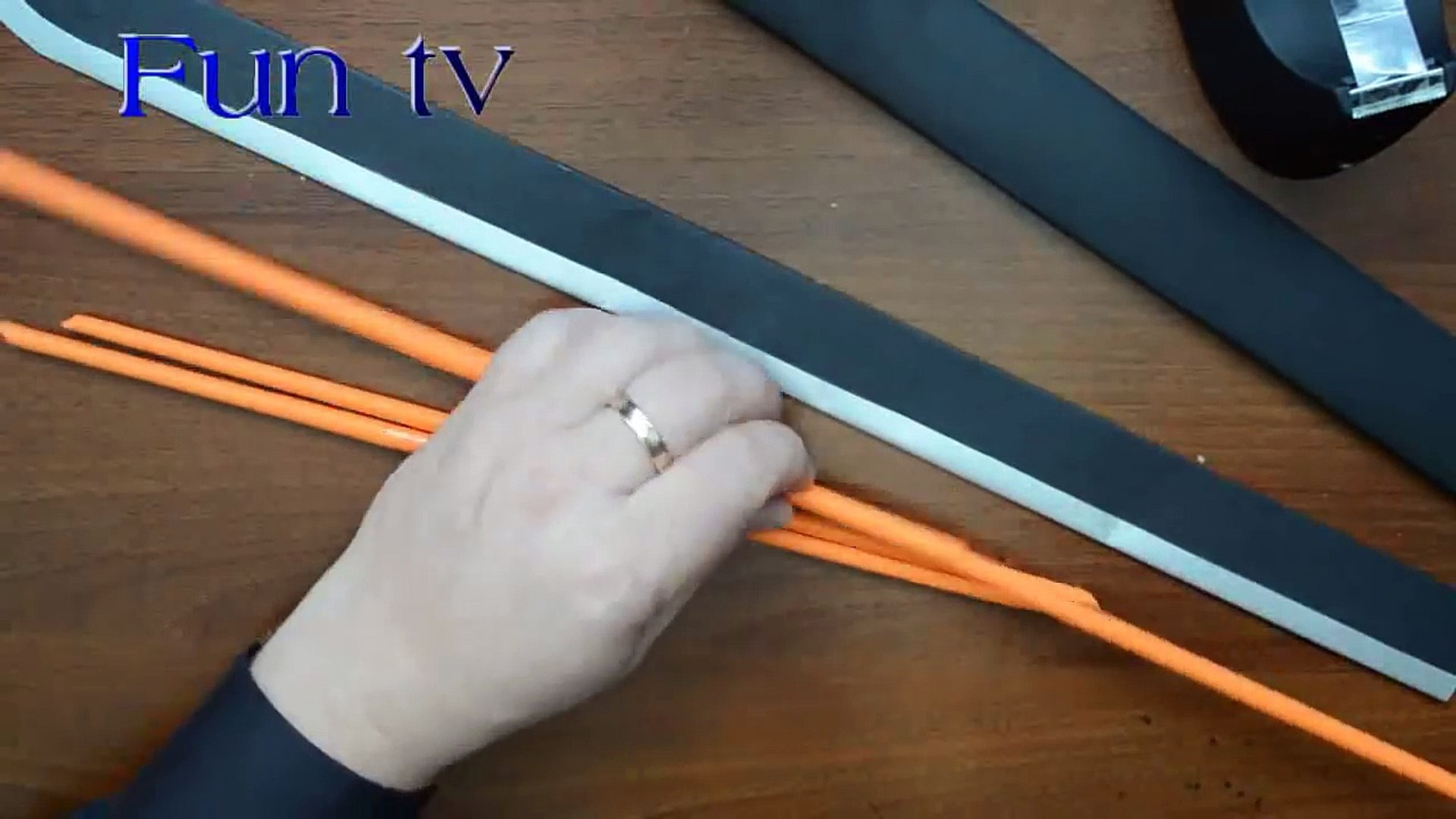 How to make a paper sword and blowgun combo - paper weapons - ninja weapons