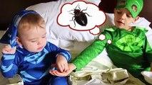 PJ MASKS IRL Superheroes In Real Life Gekko Catboy GET FAT + Jail Prison Funny Baby PJ Masks