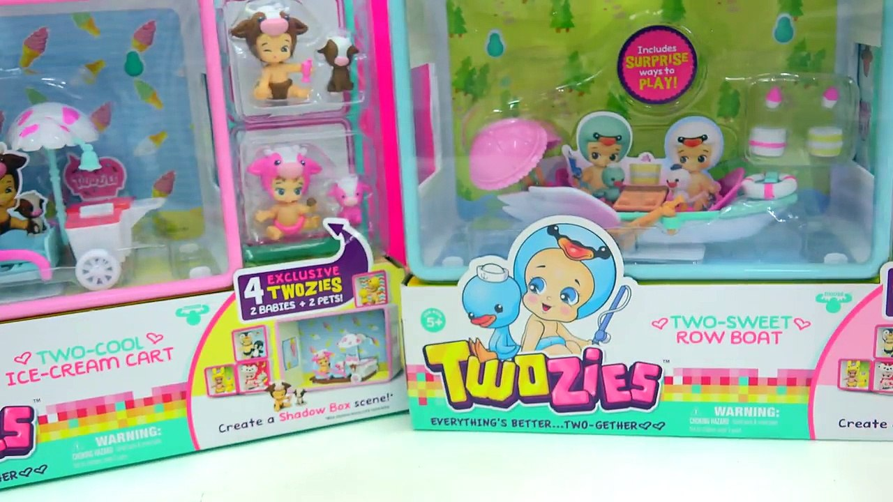 Twozies Two-Playful CAFE Baby and Pet Friends Playset BRAND NEW